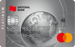 Carte Bleue Platinum.Mastercard Credit Cards National Bank