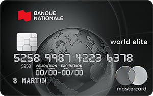 Photo de la carte de crédit Mastercard World Elite