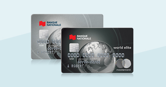 Cartes de crédit voyage World Elite et World Mastercard